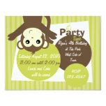 Monkey-Side-Down Personalized Invitation