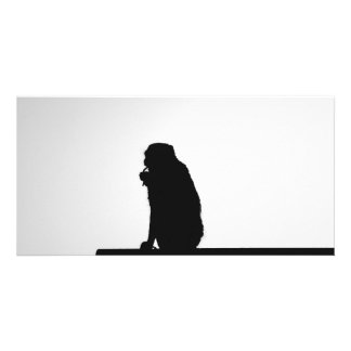 Monkey  Silhouette Photo Card