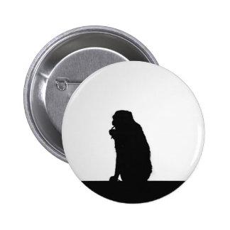Monkey  Silhouette Pinback Button
