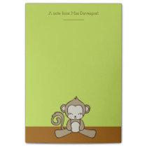 Monkey Sitting Down Looking Happy Cute & Kawaii Post-it Notes