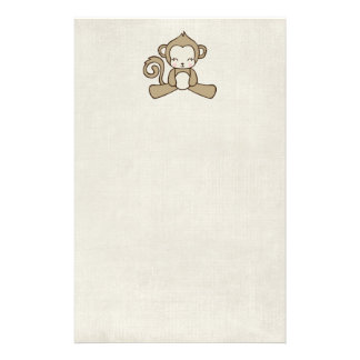 Monkey Sitting Down Looking Happy Cute & Kawaii Stationery
