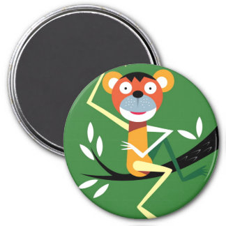 Monkey Sitting In Tree Magnet