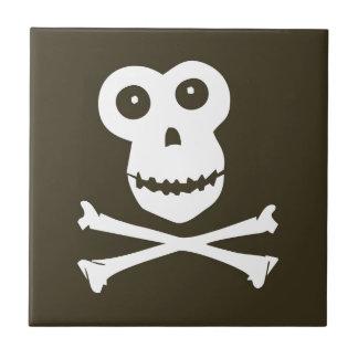 Monkey skull ceramic tile