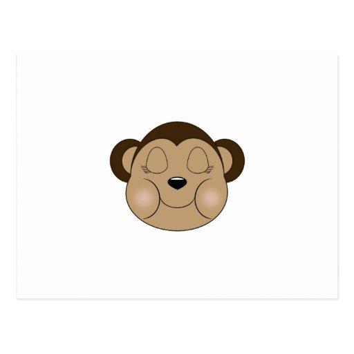 Monkey Sleeping Postcard