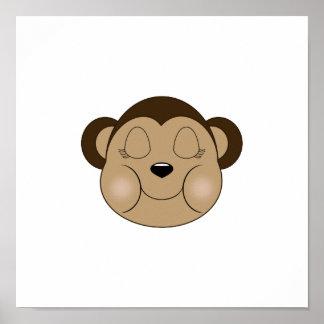 Monkey Sleeping Poster