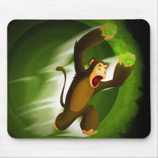 Monkey Slinging Poison Poo Mouse Pad