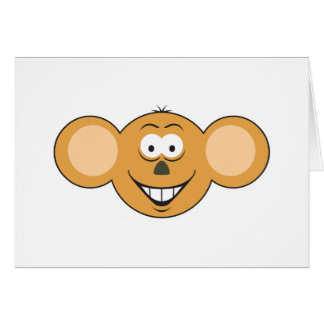 Monkey  Smiley Face Card