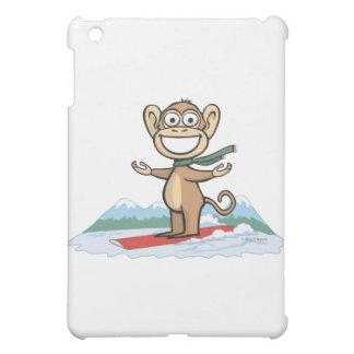 Monkey Snowboarder iPad Mini Cases