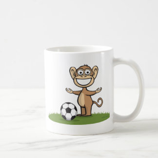 Monkey Soccer Classic White Coffee Mug