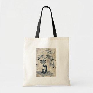 Monkey sostener un loquat potted por Utamaro II, d Bolsa Tela Barata