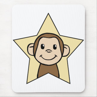 Monkey Star Mouse Pad