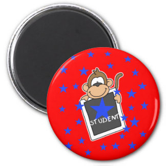 Monkey Star Student 2 Inch Round Magnet