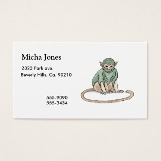 Monkey Stare Business Card