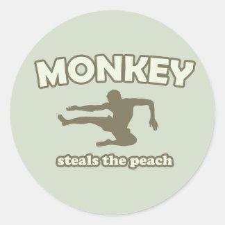 Monkey Steals the Peach Stickers