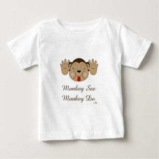 Monkey Sticking Out Tongue See Do Baby T-Shirt