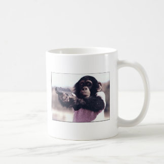 Monkey stickup coffee mug