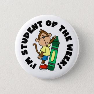 Monkey Student of the Week Pinback Button