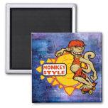 Monkey Styles Skateboarding Gear Fridge Magnets