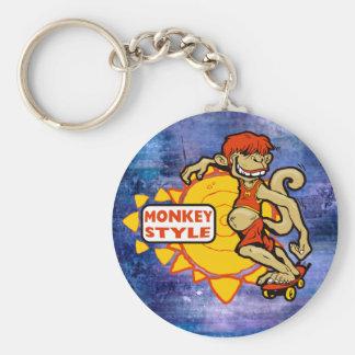 Monkey Styles Skateboarding Gear Keychain