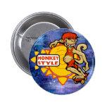 Monkey Styles Skateboarding Gear Pin
