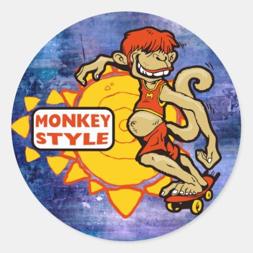 Monkey Styles Skateboarding Gear Stickers