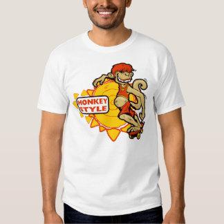 Monkey Styles Skateboarding Gear T-shirts