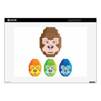 Monkey Stylized Icon Decal For Laptop