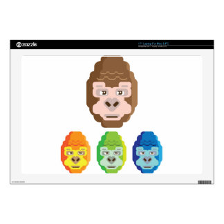Monkey Stylized Icon Decals For Laptops