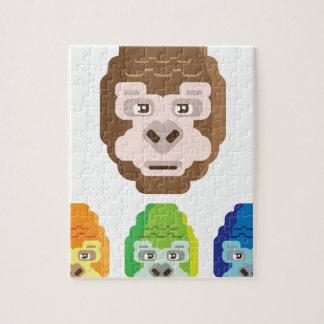Monkey Stylized Icon Jigsaw Puzzle