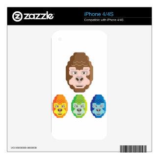 Monkey Stylized Icon Skin For iPhone 4