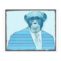 Monkey Suit Postcard