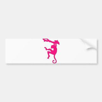 Monkey Swinging in Tree Silhouette Cartoon Bumper Stickers