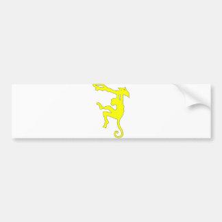 Monkey Swinging in Tree Silhouette Cartoon Bumper Sticker