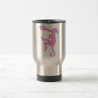 Monkey Swinging in Tree Silhouette Cartoon Coffee Mug