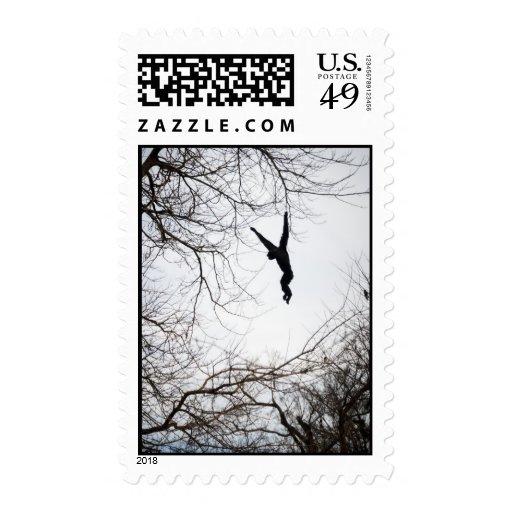 Monkey Swinging Stamps