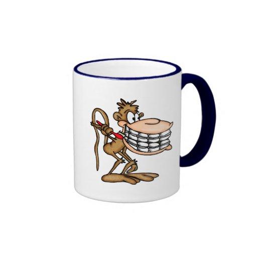 Monkey T-Shirts and Monkey Gifts Ringer Coffee Mug