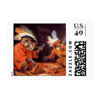 Monkey Tavern - Small Postage Stamps