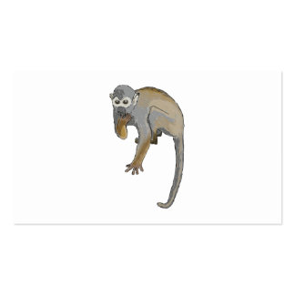 Monkey that is Eating. Business Cards