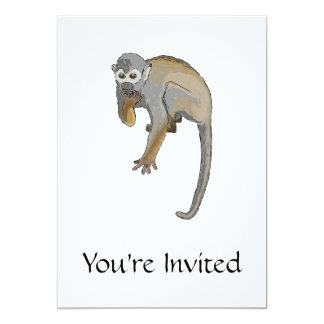 Monkey that is Eating. Card