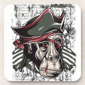 monkey the pirate cute design coaster