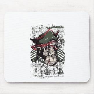 monkey the pirate cute design mouse pad