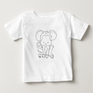 Monkey to color - Cute Ape Baby Baby T-Shirt