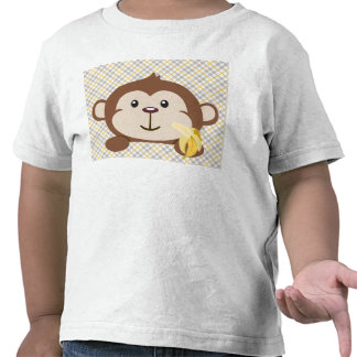 Monkey Toddler T-Shirt, White
