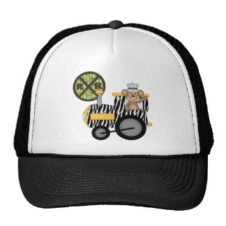 Monkey Train Engineer T-shirts and Gifts Trucker Hat