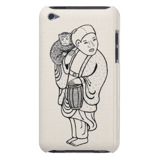 Monkey trainer netsuke barely there iPod cover
