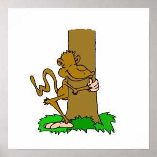 Monkey Tree Hugger Posters