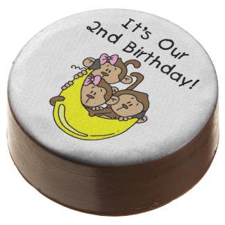 Monkey Triplets 2nd Birthday Dipped Oreos Chocolate Dipped Oreo