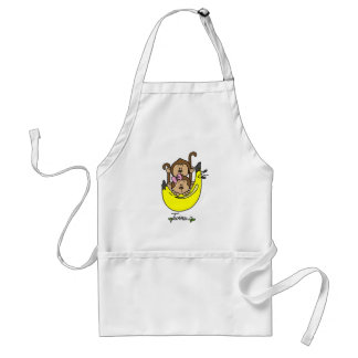 Monkey Twin Boy and Girl Tshirts and Gifts Adult Apron