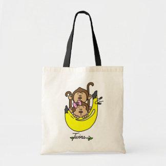 Monkey Twin Boy and Girl Tshirts and Gifts Bag