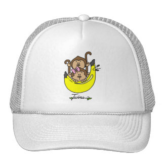 Monkey Twin Boy and Girl Tshirts and Gifts Trucker Hat